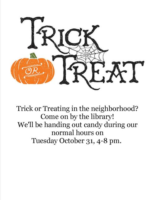 trick or treat at CPL