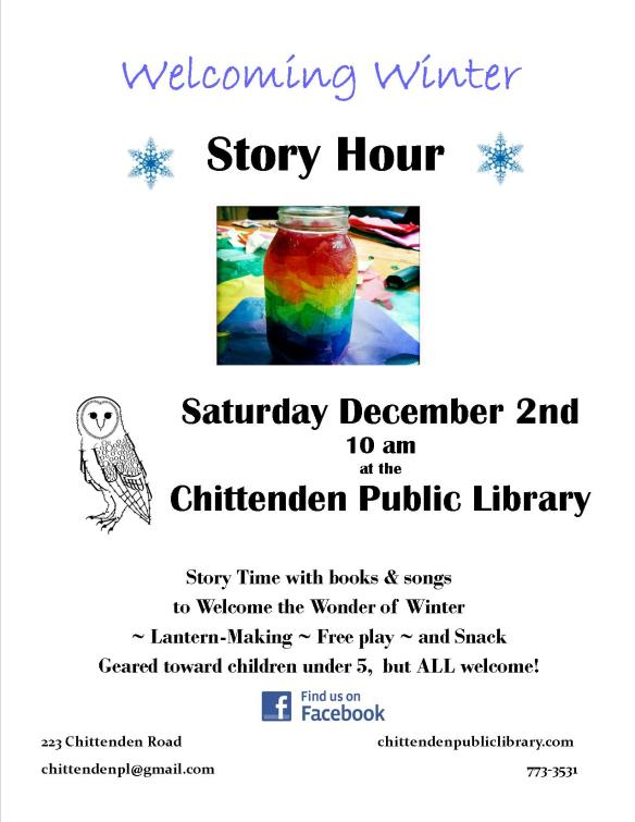 welcoming winter story hour