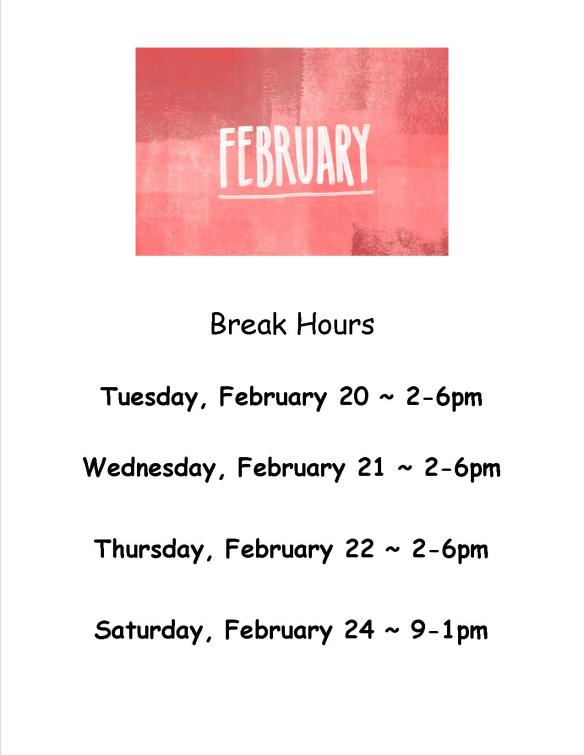 feb break hours