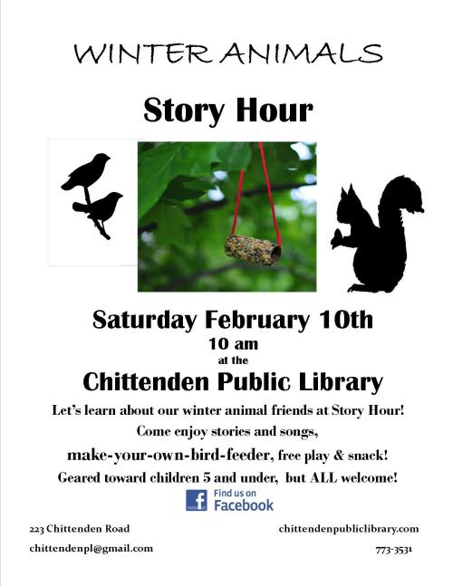 Winter Animals Story Hour Feb 2018