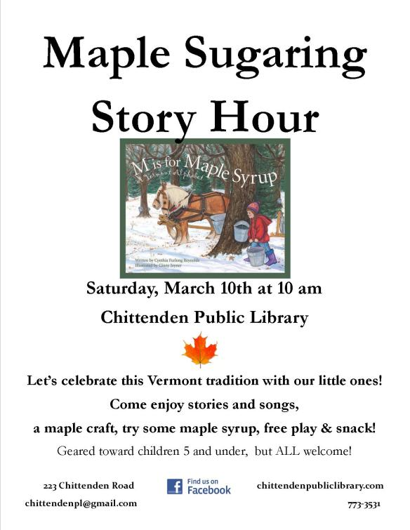 maple sugaring story hour march 2018