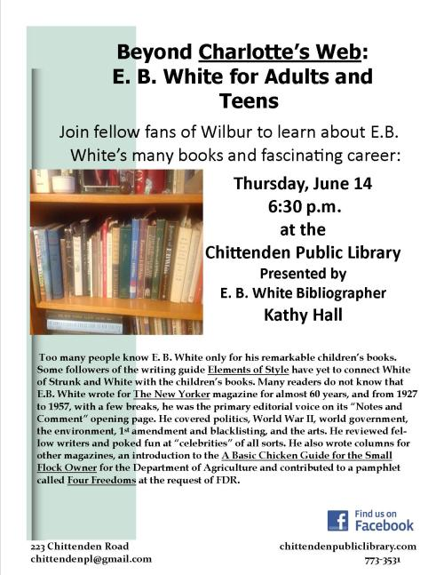 EB WHite FLyer
