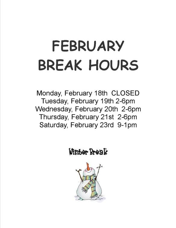 february break hours