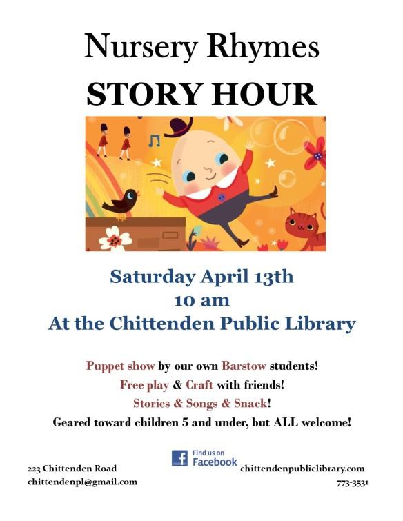 Nursery Rhyme Story Hour