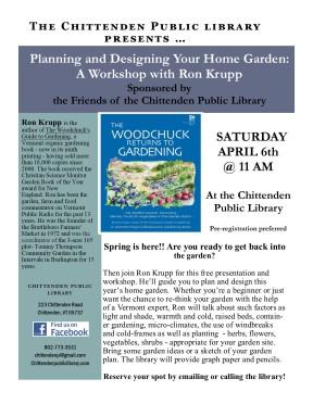 Ron Krupp Garden event