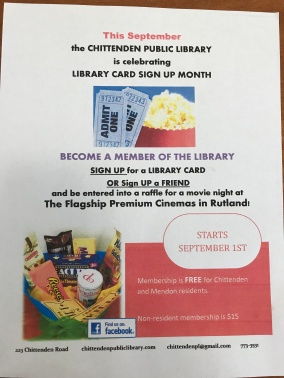 Library Card Sign Up month for adults