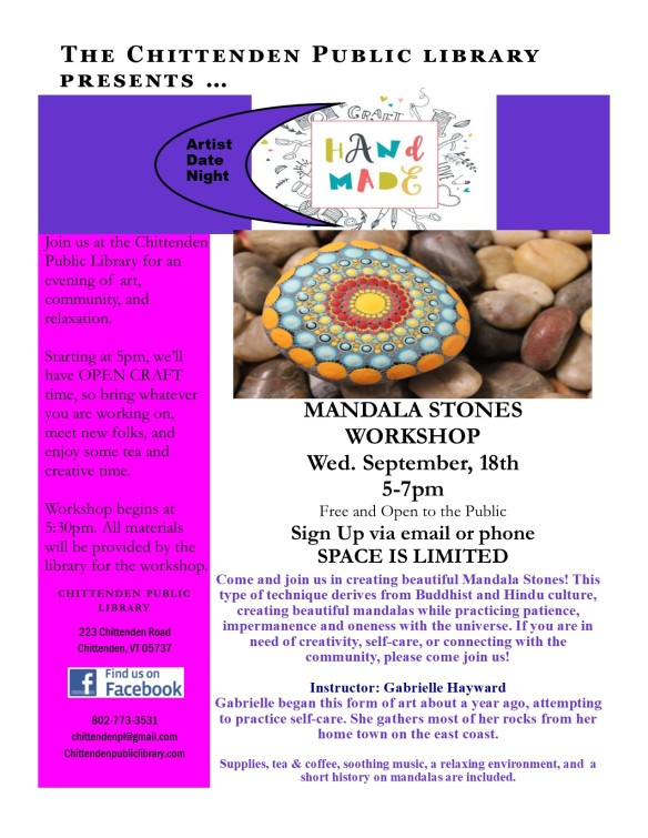 mandala stone artist night