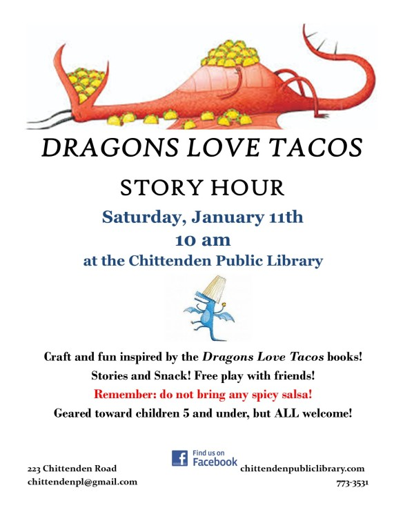 dragons love tacos flyer