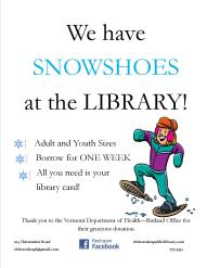 snowshoes at the library
