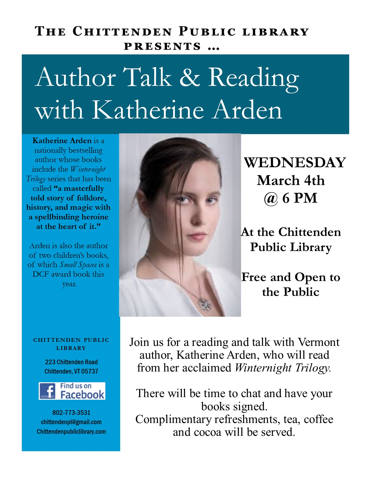 Katherine Arden author talk