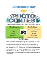 photo contest chittenden day 2021